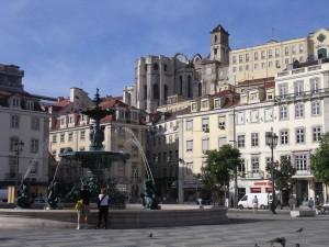 43) Plaza Rossio. Lisboa